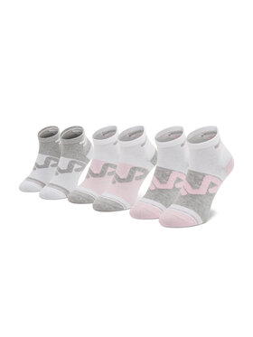 Fila Fila Комплект 3 чифта къси чорапи дамски Calza F6104 Бял