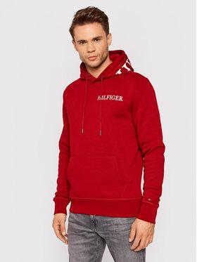 Tommy Hilfiger Tommy Hilfiger Sweatshirt Hilfiger Logo On Hood MW0MW21424 Rouge Regular Fit