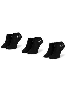 NIKE NIKE Sada 3 párů nízkých ponožek unisex SX7677 010 Černá