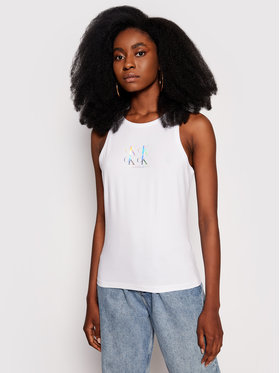 Calvin Klein Jeans Calvin Klein Jeans Top J20J215604 Biela Slim Fit