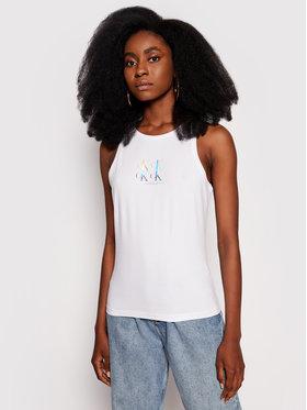 Calvin Klein Jeans Calvin Klein Jeans Top J20J215604 Bílá Slim Fit