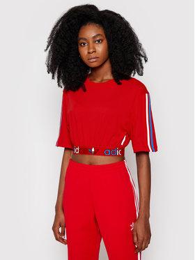 adidas adidas Bluză adicolor Primeblue Tricolor GN2935 Roșu Relaxed Fit