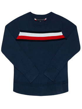 TOMMY HILFIGER TOMMY HILFIGER Sweter Essential KB0KB06070 M Granatowy Regular Fit