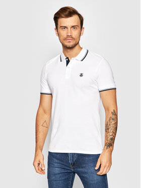 Selected Homme Selected Homme Polo New Season 16062542 Biały Regular Fit