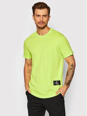 Calvin Klein Jeans Calvin Klein Jeans T-Shirt J30J315319 Zielony Regular Fit