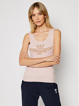 Aeronautica Militare Aeronautica Militare Marškinėliai 211TS1875DJ214 Rožinė Slim Fit
