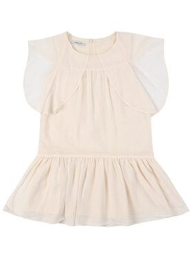 Primigi Primigi Ежедневна рокля Feel Chic Today 45112571 Бежов Regular Fit