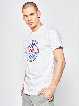 Vans Vans Tričko Og Checker VN0A49SYWHT1 Biela Slim Fit