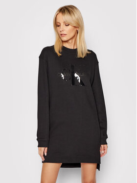 Calvin Klein Jeans Calvin Klein Jeans Плетена рокля J20J216343 Черен Regular Fit