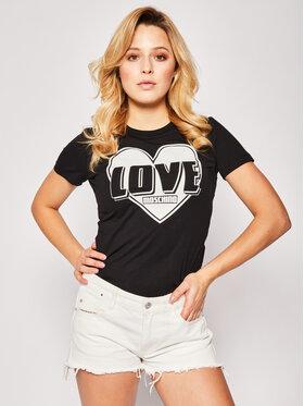 LOVE MOSCHINO LOVE MOSCHINO T-Shirt W4F7357E 1698 Černá Regular Fit