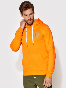 Rage Age Rage Age Sweatshirt Hooddie 2 Orange Slim Fit