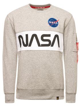 Alpha Industries Alpha Industries Sweatshirt Nasa 178308 Grau Regular Fit