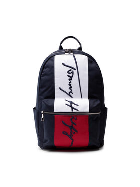 Tommy Hilfiger Tommy Hilfiger Plecak Th Signature Corp Backpack AM0AM07596 Granatowy
