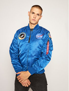 Alpha Industries Alpha Industries Geacă bomber Nasa 166107 Bleumarin Regular Fit