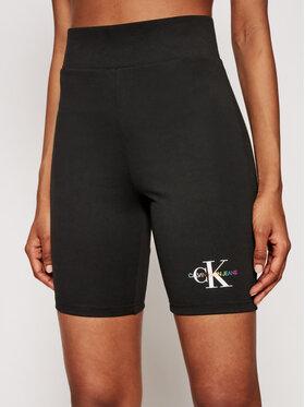 Calvin Klein Jeans Calvin Klein Jeans Športové kraťasy J20J217221 Čierna Slim Fit