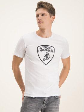 Lamborghini Lamborghini T-Shirt B3XUB7G1 Biały Regular Fit