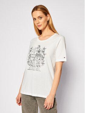 Tommy Hilfiger Tommy Hilfiger T-Shirt Crest WW0WW29252 Λευκό Regular Fit