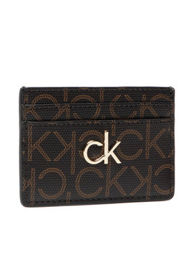 Calvin Klein Calvin Klein Bankkártya tartó Cardholder Monogram K60K608330 Barna
