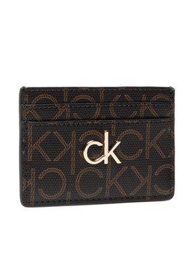 Calvin Klein Calvin Klein Kreditinių kortelių dėklas Cardholder Monogram K60K608330 Ruda