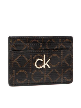 Calvin Klein Calvin Klein Kreditkartenetui Cardholder Monogram K60K608330 Braun