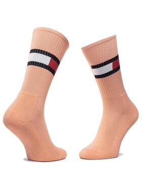 TOMMY HILFIGER TOMMY HILFIGER Moteriškų ilgų kojinių komplektas (2 poros) 394020001 Balta