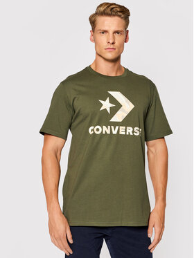 Converse Converse T-Shirt Camo Fill Graphic 10023140-A03 Zelená Regular Fit