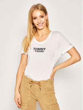 Tommy Jeans Tommy Jeans T-Shirt Tjw Corp Heart Logo Tee DW0DW07526 Biały Regular Fit