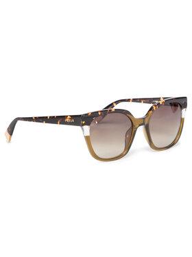 Furla Furla Okulary przeciwsłoneczne Sunglasses SFU401 401FFS5-RE0000-HLC00-4-401-20-CN-P Brązowy