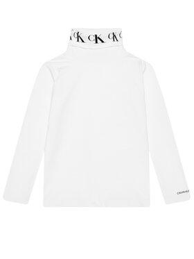 Calvin Klein Jeans Calvin Klein Jeans Rollkragenpullover Monogram IG0IG00674 Weiß Regular Fit