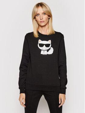 KARL LAGERFELD KARL LAGERFELD Sweatshirt Ikonik Choupette 210W1823 Schwarz Regular Fit