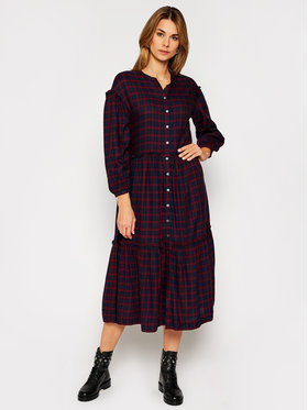 TOMMY HILFIGER TOMMY HILFIGER Vestito chemisier Bea Tartan WW0WW29289 Multicolore Relaxed Fit