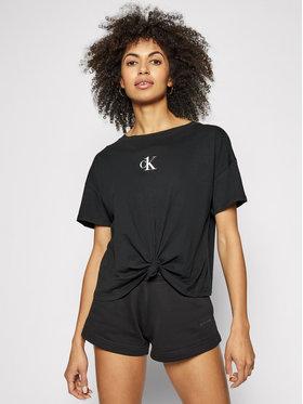 Calvin Klein Swimwear Calvin Klein Swimwear Marškinėliai Cropped KW0KW01366 Juoda Regular Fit