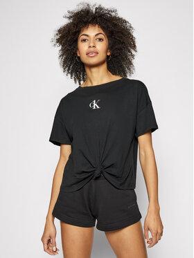 Calvin Klein Swimwear Calvin Klein Swimwear Póló Cropped KW0KW01366 Fekete Regular Fit