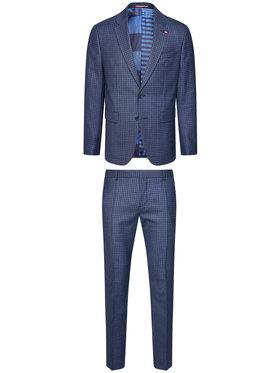 Tommy Hilfiger Tailored Tommy Hilfiger Tailored Oblek Blend TT0TT08438 Tmavomodrá Regular Fit