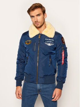 Alpha Industries Alpha Industries Bomber Injector III Air Force 198113 Blu scuro Regular Fit
