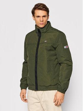 Tommy Jeans Tommy Jeans Bunda pro přechodné období Essential DM0DM10975 Zelená Regular Fit