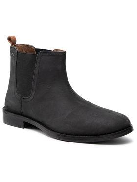 Pepe Jeans Pepe Jeans Členková obuv s elastickým prvkom Roy Chelsea Men PMS50170 Čierna