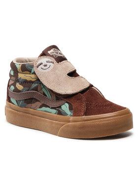 Vans Vans Sneakersy Sk8-Mid Sloth Rei VN0A54FF3X01 Brązowy