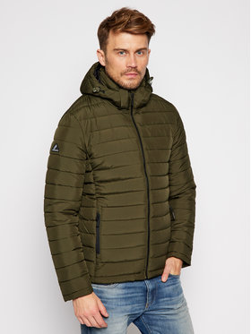 Superdry Superdry Vatovaná bunda Hooded Fuji M5010201A Zelená Regular Fit