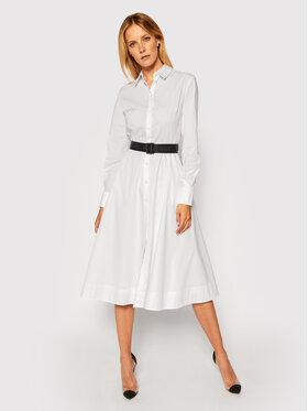 KARL LAGERFELD KARL LAGERFELD Sukienka koszulowa Poplin 206W1300 Biały Regular Fit