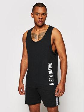 Calvin Klein Swimwear Calvin Klein Swimwear Tank top Crew KM0KM00609 Čierna Relaxed Fit