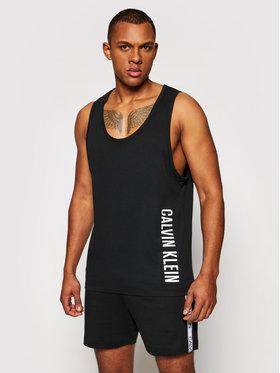 Calvin Klein Swimwear Calvin Klein Swimwear Trikó Crew KM0KM00609 Fekete Relaxed Fit