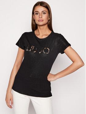 Liu Jo Sport Liu Jo Sport T-Shirt TA0117 J5003 Černá Regular Fit