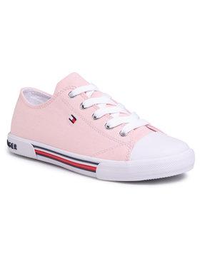 Tommy Hilfiger Tommy Hilfiger Sportbačiai Low Cut Lace-Up Sneaker T3A4-30605-0890 S Rožinė