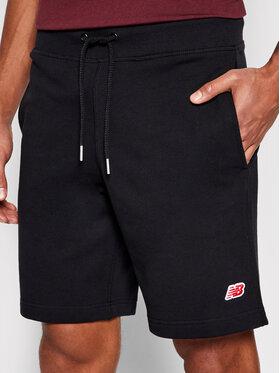 New Balance New Balance Sportovní kraťasy Small Pack Sweat MS0166 Černá Regular Fit