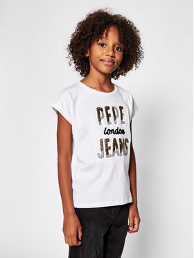 Pepe Jeans Pepe Jeans Bluză Blond PG502679 Alb Regular Fit