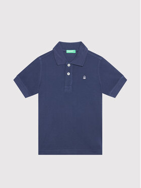 United Colors Of Benetton United Colors Of Benetton Polo marškinėliai 3089C3091 Tamsiai mėlyna Regular Fit
