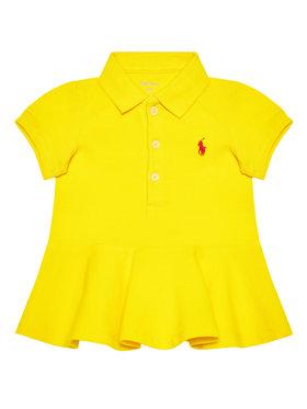 Lauren Ralph Lauren Lauren Ralph Lauren Sukienka codzienna Polo 310800694007 Żółty Regular Fit