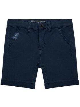 Guess Guess Medžiaginiai šortai N1RD04 WD3T0 Tamsiai mėlyna Regular Fit