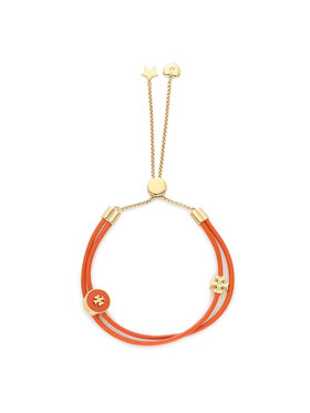 Tory Burch Tory Burch Bracelet Kira Enamel Slider Bracelet 86248 Orange